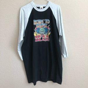 Born To Raise Hell Vintage Iron-On On T-Shirt NWT